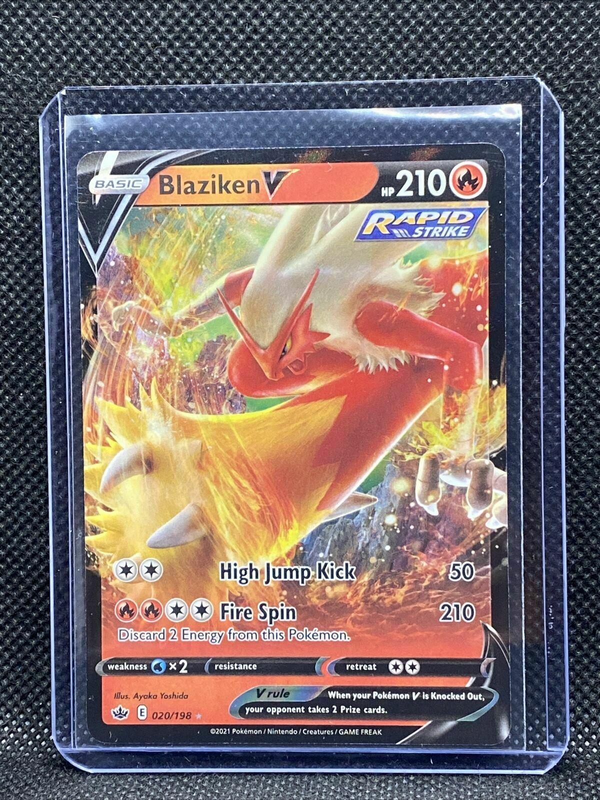 Blaziken V Rapid Strike 020/198 Holo Rare Pokemon Chilling Reign