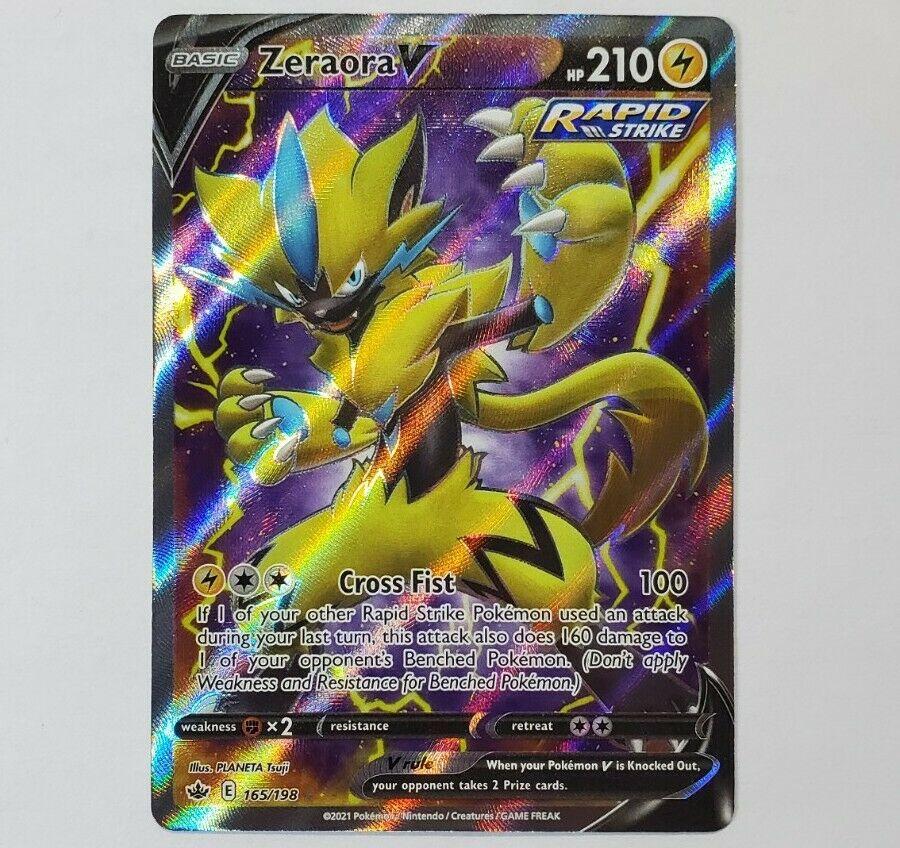 Pokemon - Zeraora V - Ultra Rare Full Art Holo - Chilling Reign 165/198 - NM/M