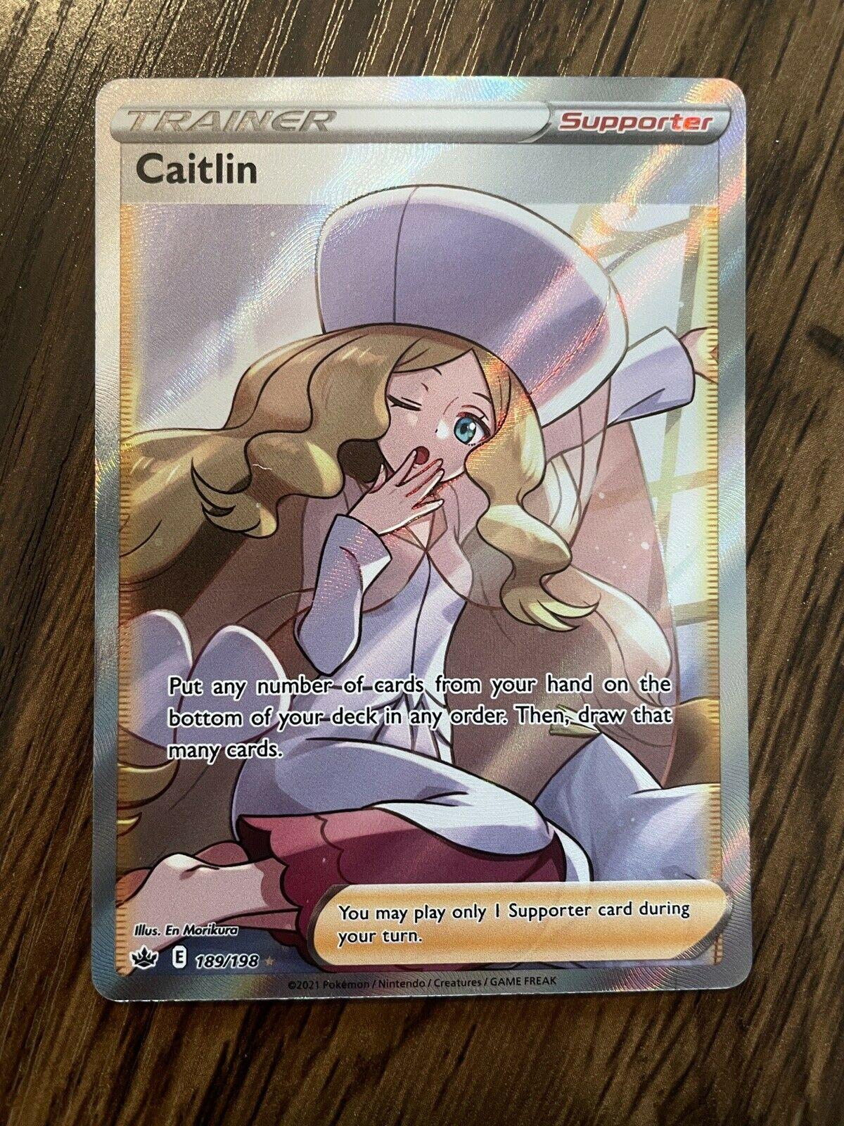 Caitlin Full Art Trainer Supporter - 189/198 Pokemon TCG Chilling Reign NM
