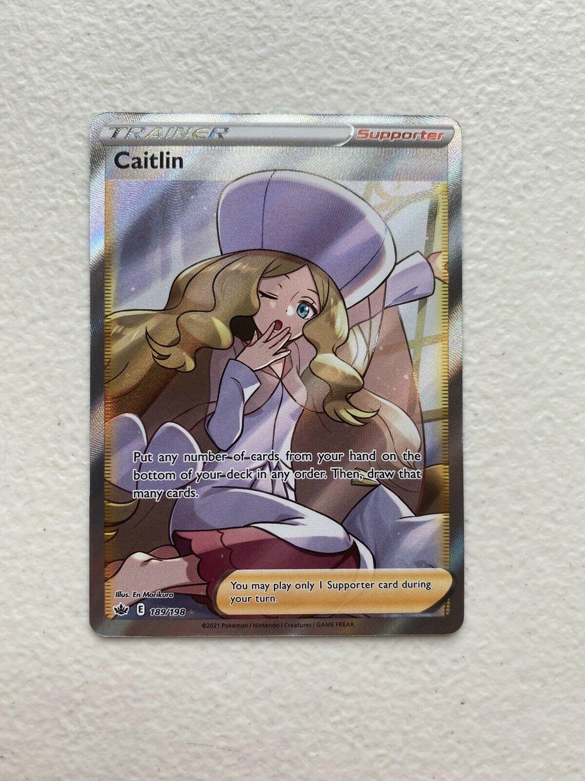 Caitlin Full Art Trainer 189/198 Chilling Reign Pokemon Card NM/M