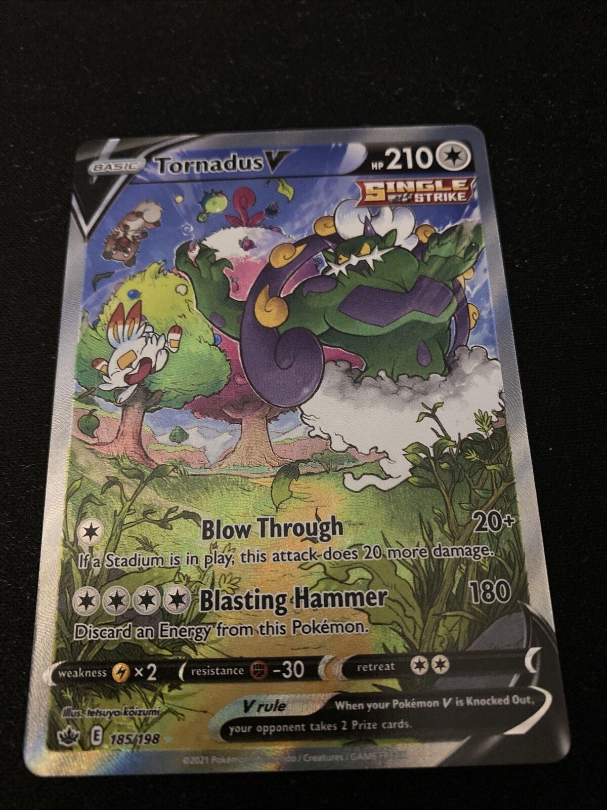pokemon chilling reign Tornadus V Alternate Art 185/198