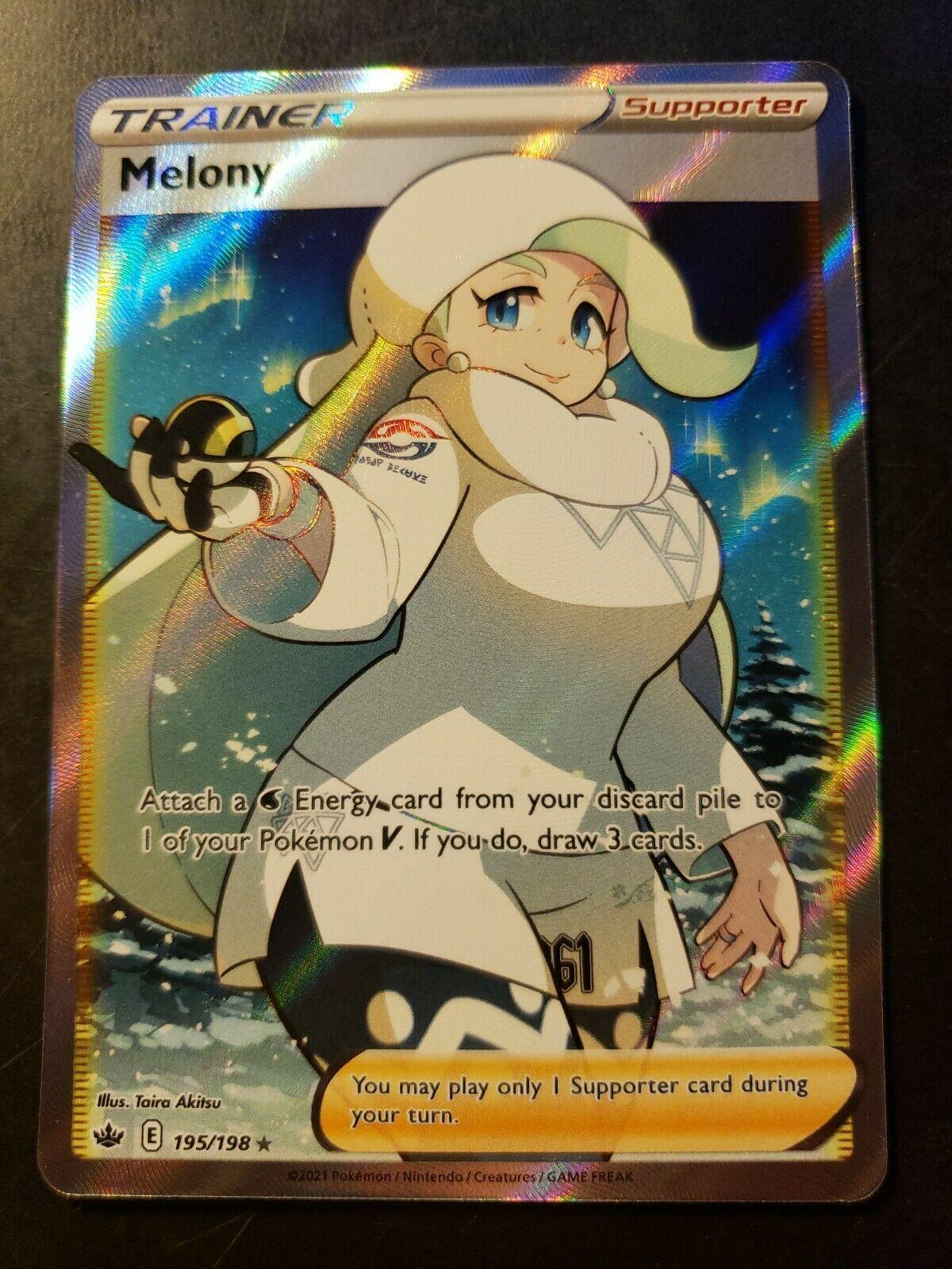Pokemon TCG Chilling Reign Full Art Melony 195/198 NM