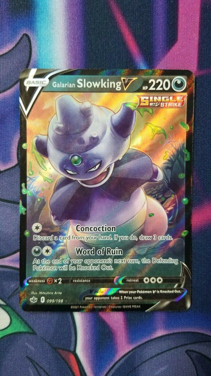 Galarian Slowking V 099/198 NM|M- Chilling Reign Pokemon