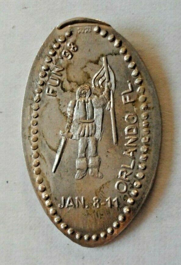 FUN 1998 elongated Buffalo nickel not penny Orlando FL USA 5 cent souvenir coin - Image 1