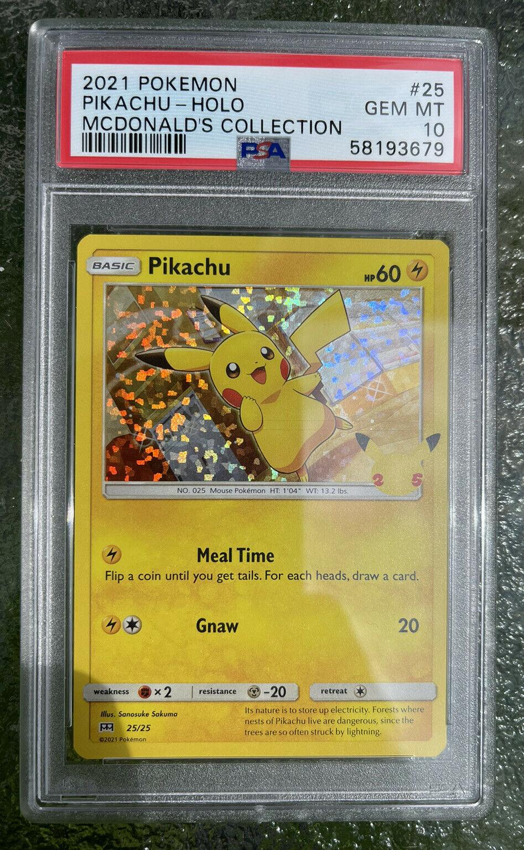 *HOLO BLEED* 2021 Pokemon #25 Pikachu Holo McDonald's Collection PSA 10 GEM MINT