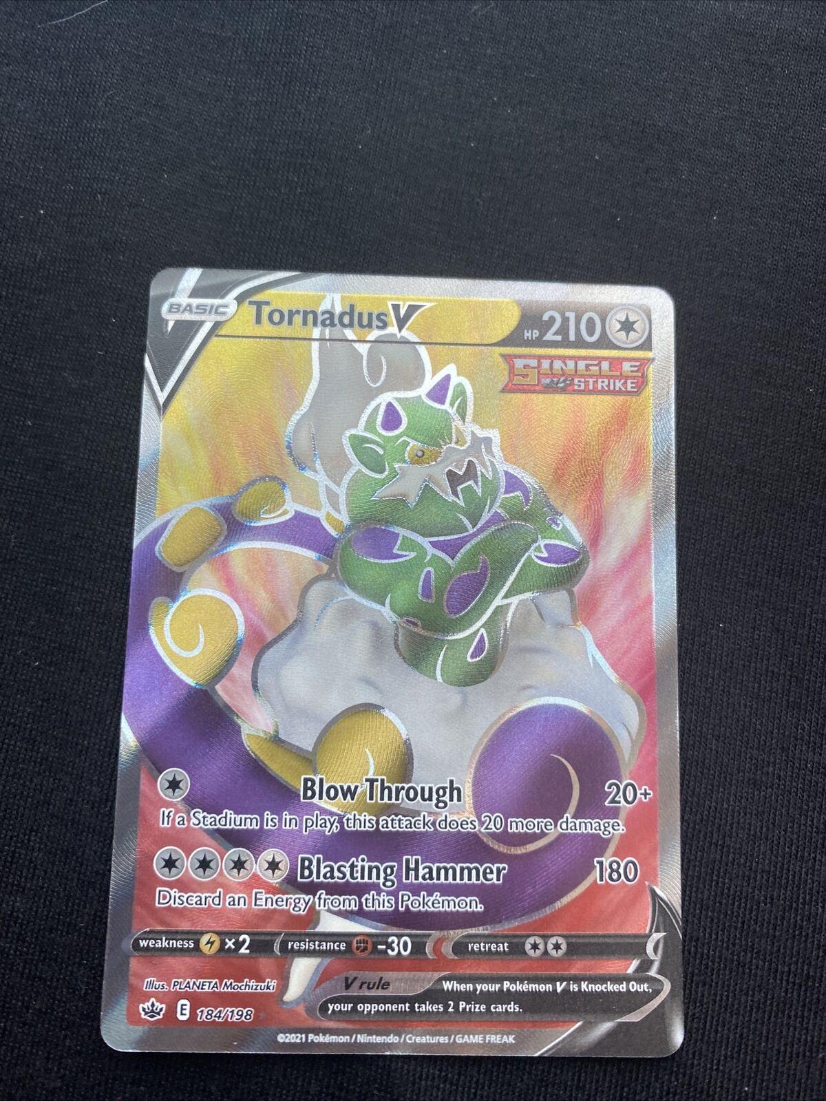 Tornadus V Full Art English Pokemon Card Chilling Reign 184/198