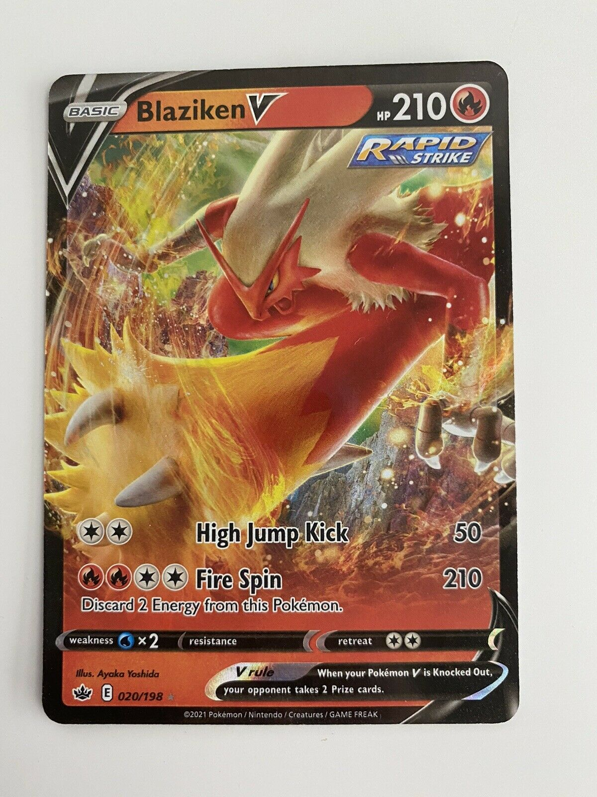 Pokemon Blaziken V 020/198 Ultra Rare Chilling Reign - Near Mint / Mint