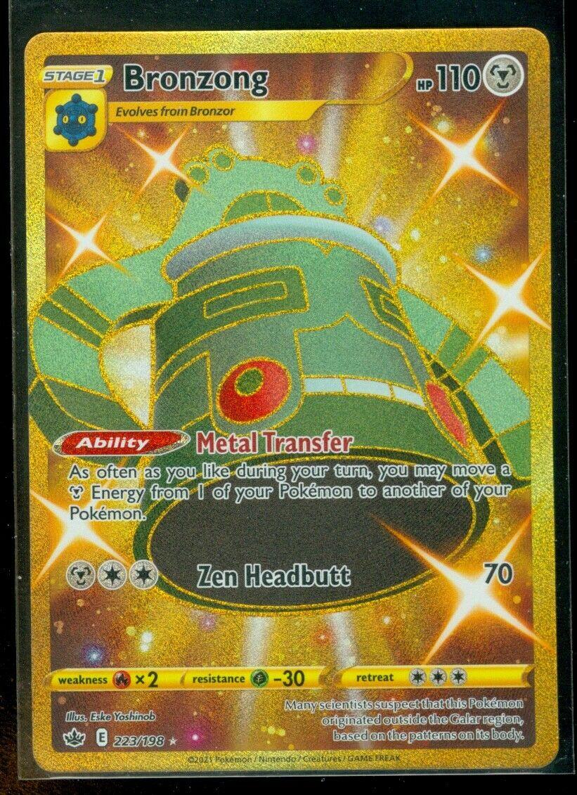 Pokemon BRONZONG 223/198 Chilling Reign SECRET RARE FULL ART - MINT