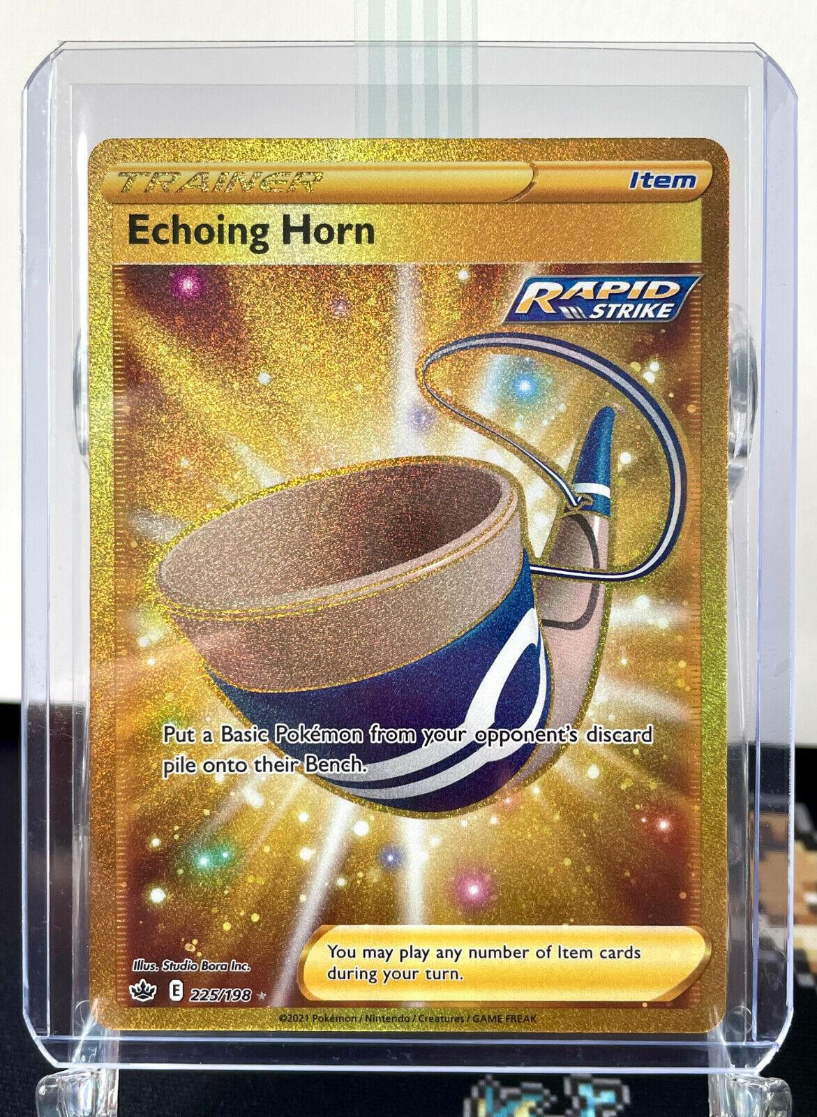 Echoing Horn 225/198 Gold Secret Rare - Pokemon Chilling Reign - NM - New