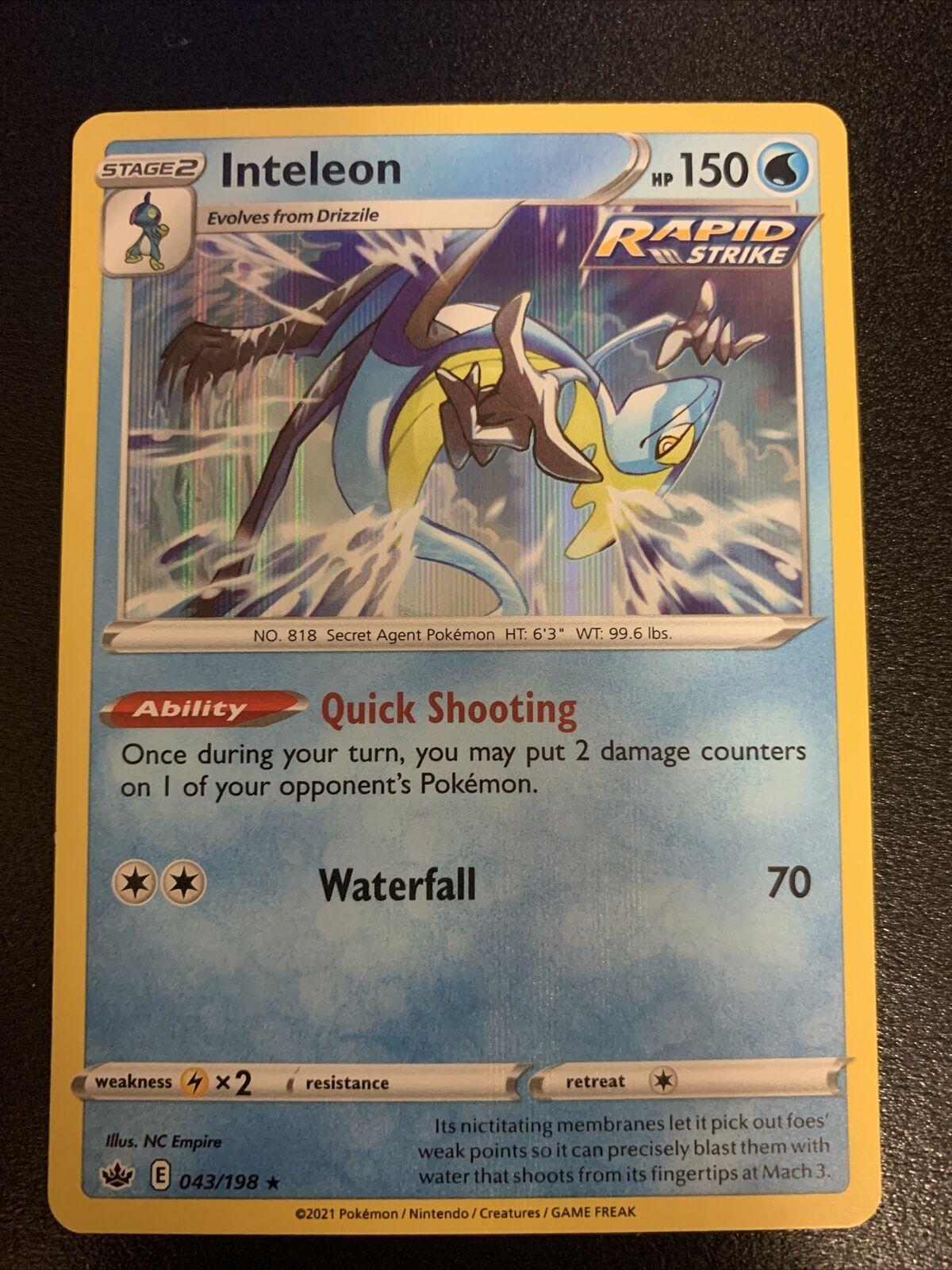 INTELEON 043/198 Holo Rare Chilling Reign Pokemon TCG