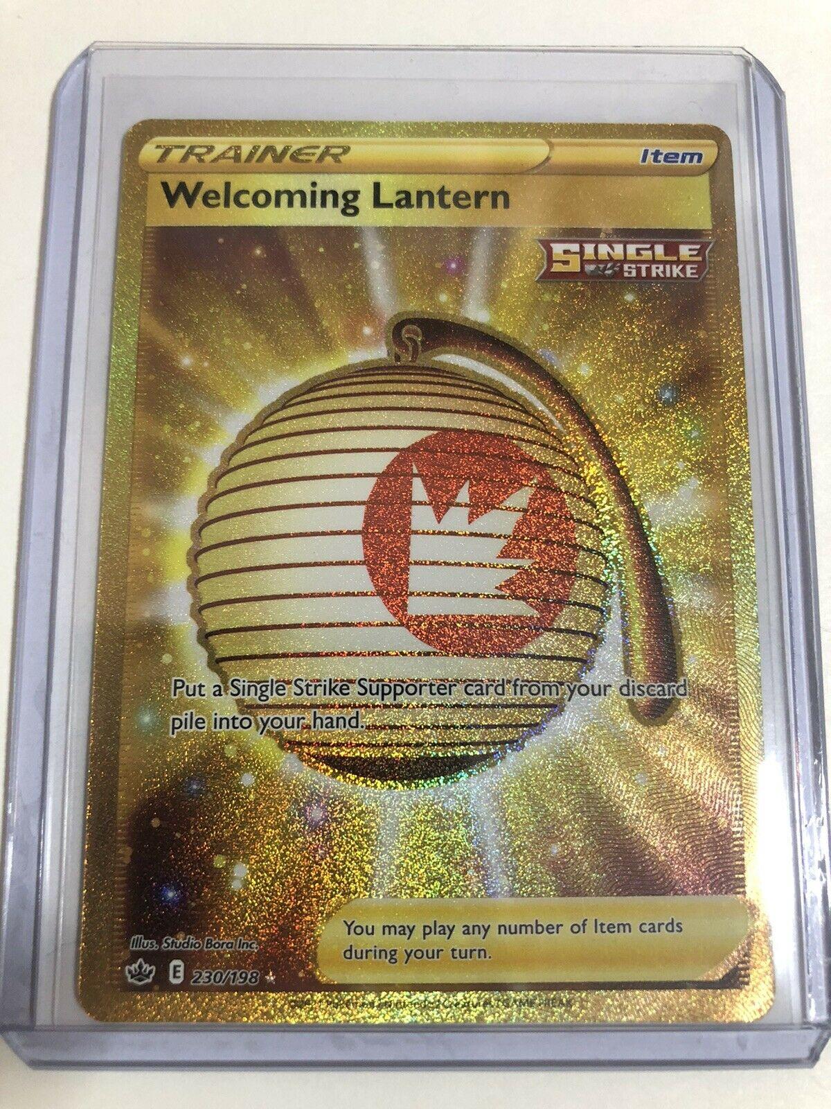 Welcoming Lantern 230/198 Gold Full Art Trainer Chilling Reign Secret Rare
