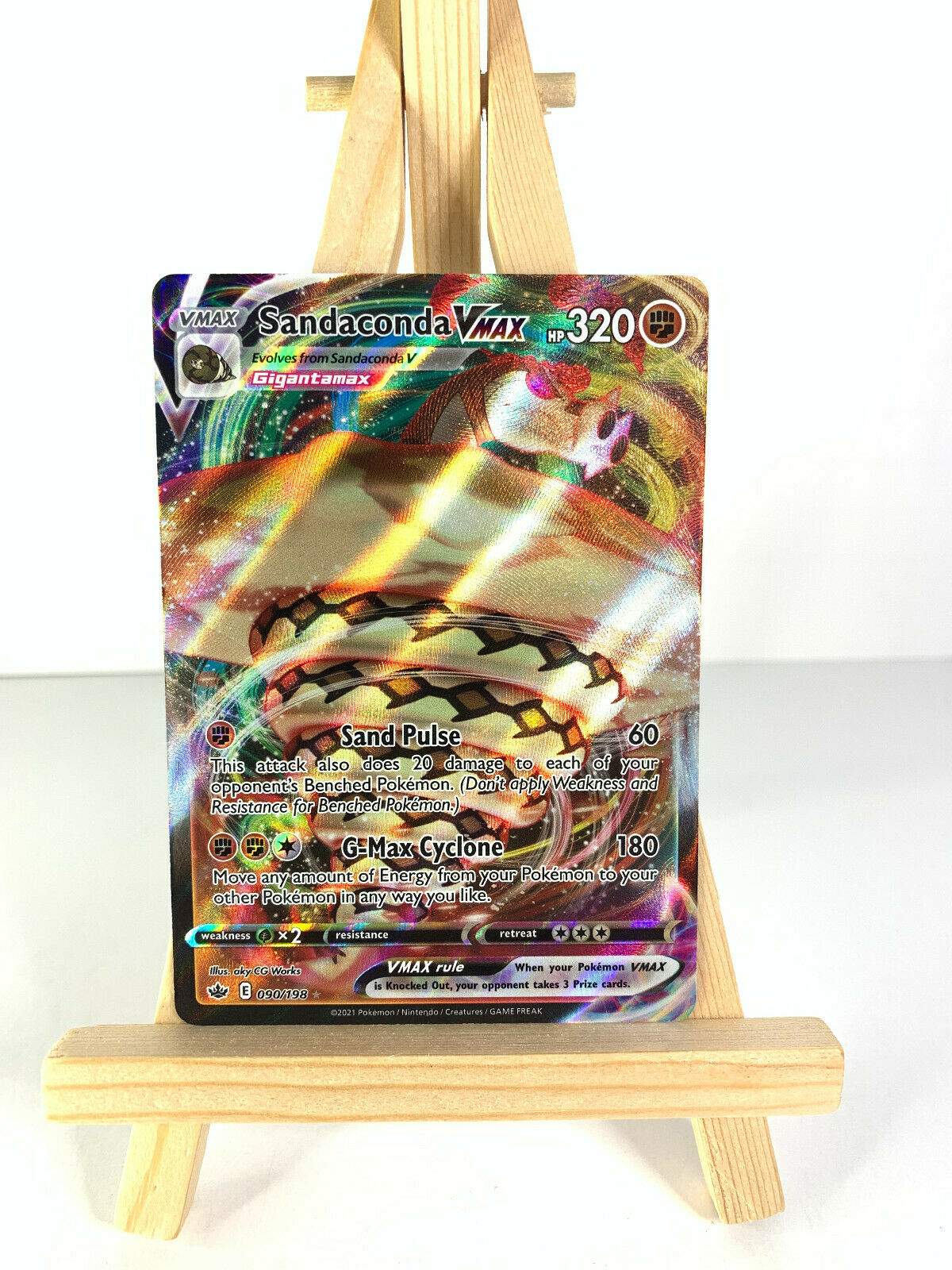 Pokemon - SANDACONDA VMAX 090/198 - Chilling Reign - Ultra Rare - NM