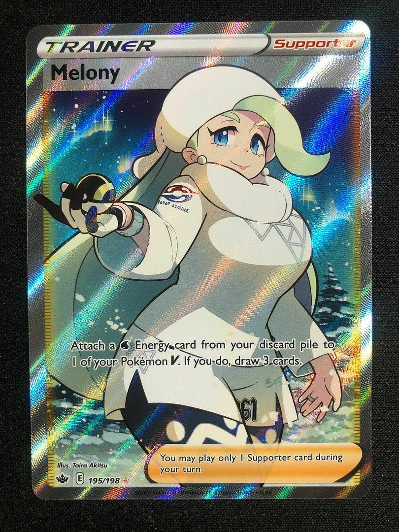Pokemon 195/198 Melony Full Art Trainer Chilling Reign