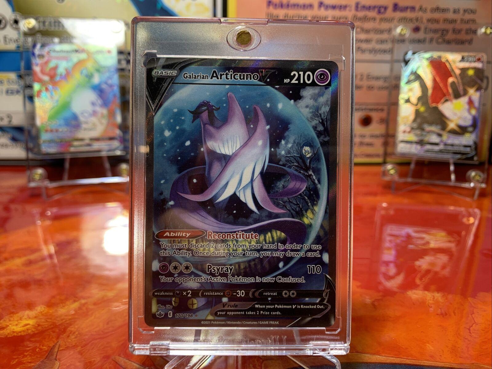 Galarian Articuno V 170/198 Alternate Full Art Chilling Reign Pokemon Card Mint