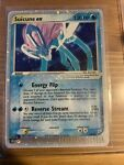 Suicune EX 94/95 Team Magma vs Aqua Holo Ultra Rare E-Series Pokemon Card LP ❄