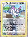 Purugly 116/163 Uncommon Sword & Shield Battle Styles Reverse Holo Pokemon Card