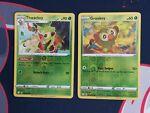 Pokemon Shining Fates 012/072 Thwackey and 011/072 Grookey Reverse Holo NM
