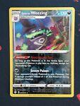 Pokemon Shining Fates 042/072 Galarian Weezing Reverse Holo Rare Near Mint NM