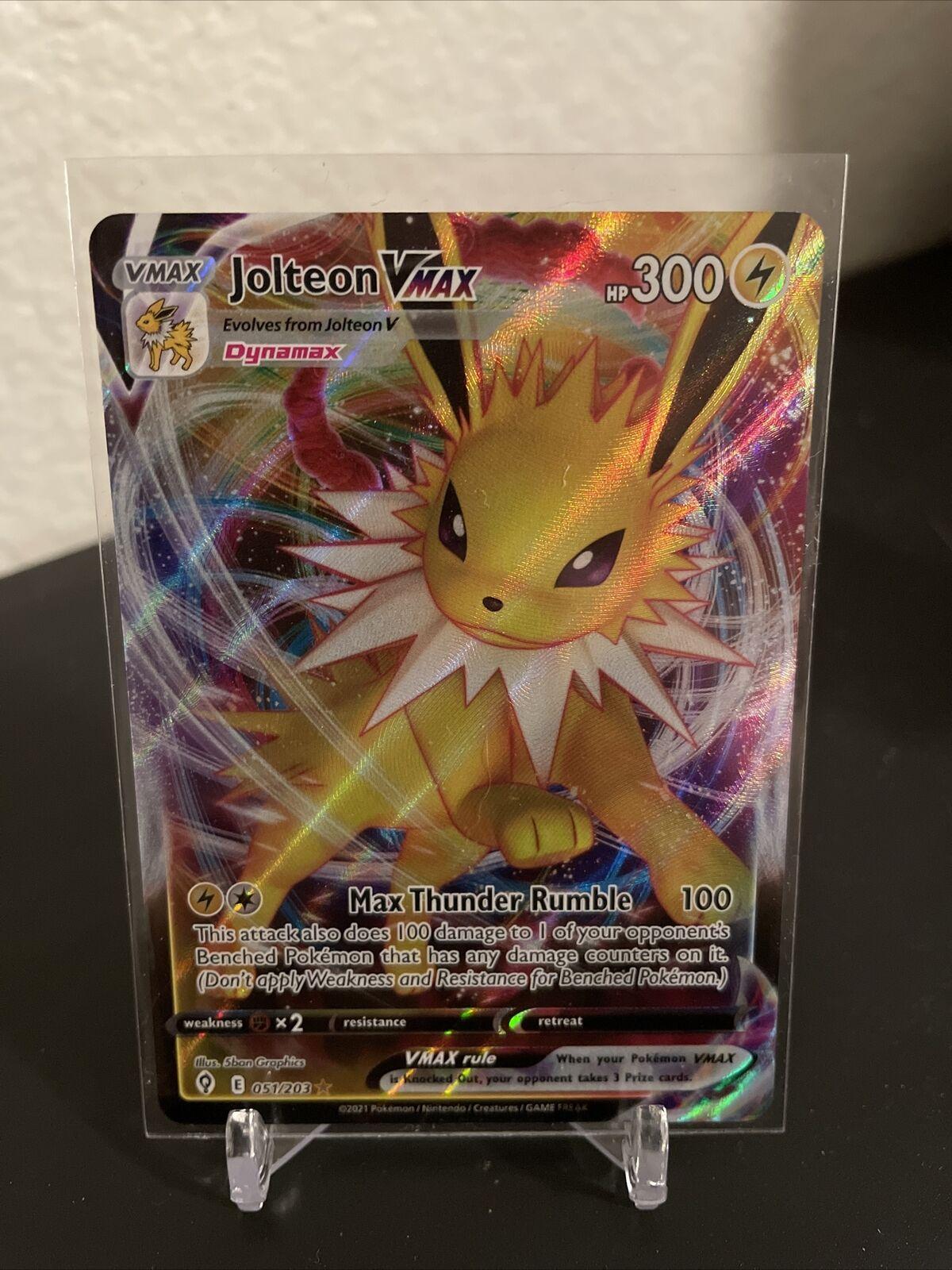 Pokemon - Jolteon VMAX - 051/203 - Ultra Rare - Evolving Skies - New