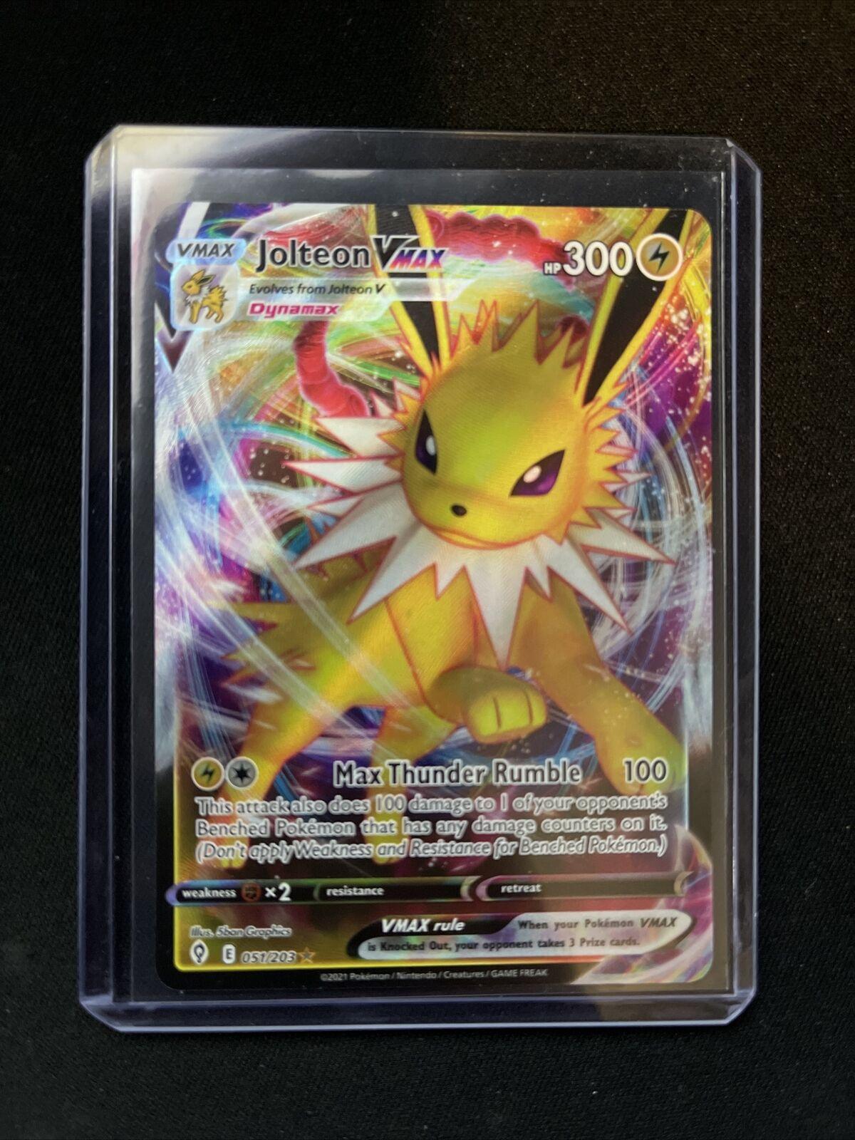 Jolteon VMAX 051/203 Full Art NM/M Evolving Skies Pokemon Card