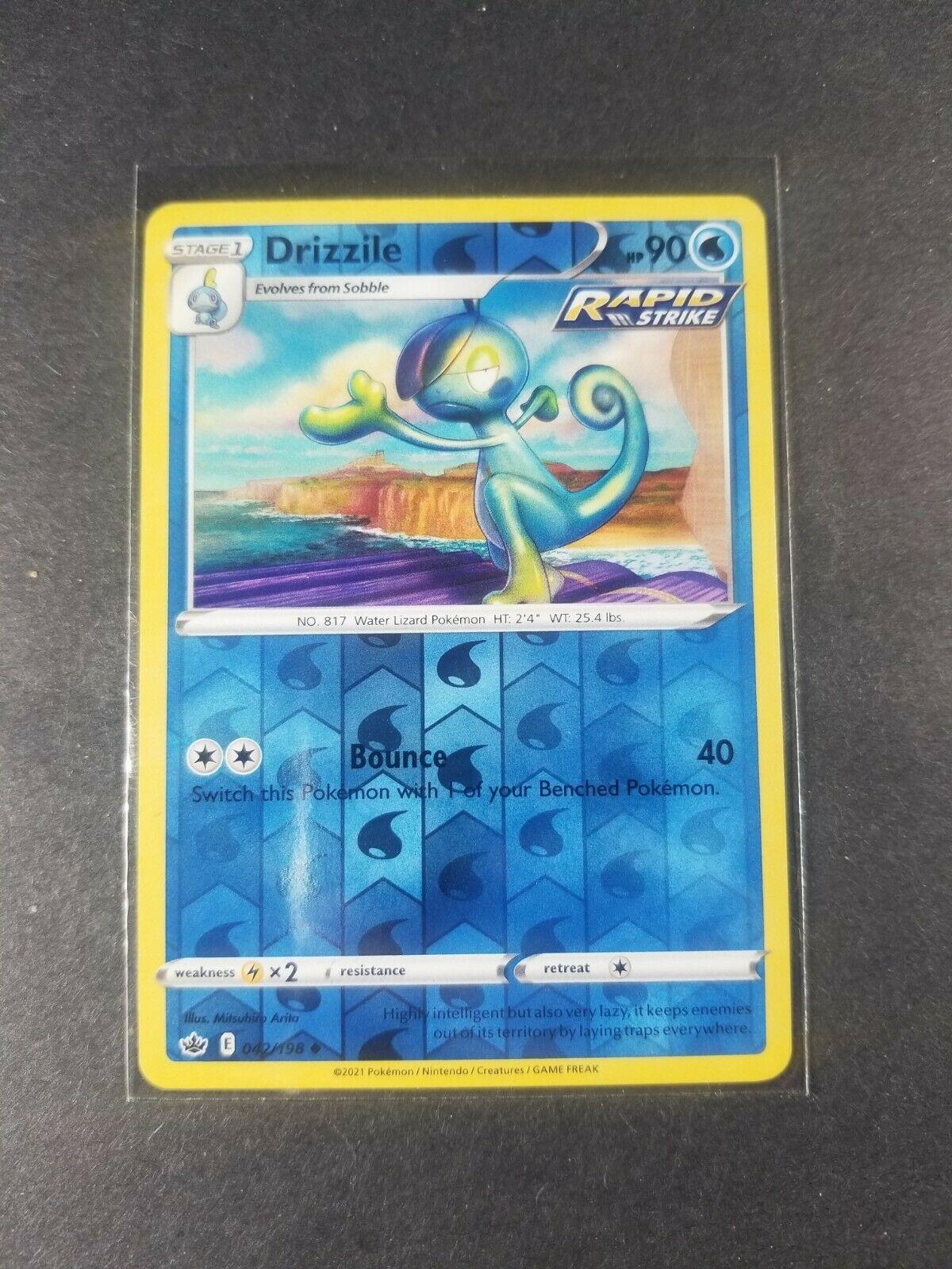 Drizzile 042/198 Reverse Holo Foil Rapid Strike Pokemon Card Chilling Reign