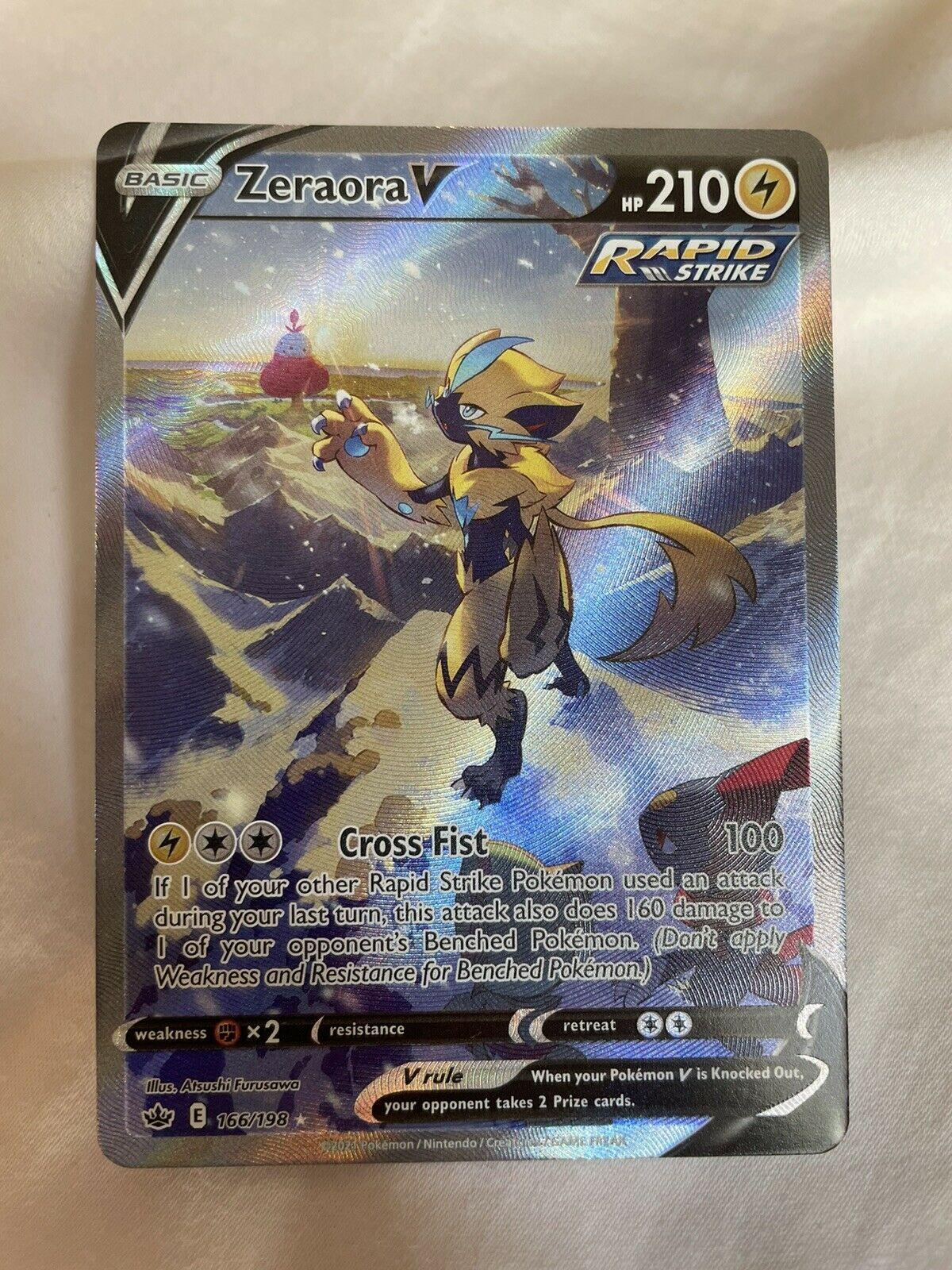Pokemon Card Chilling Reign Zeraora V Alt Full Art Ultra Rare NM MINT 166/198