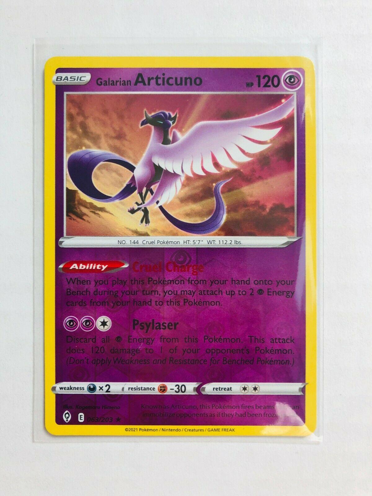 Pokemon - Galarian Articuno - Evolving Skies - 063/203 - Reverse Holo Rare