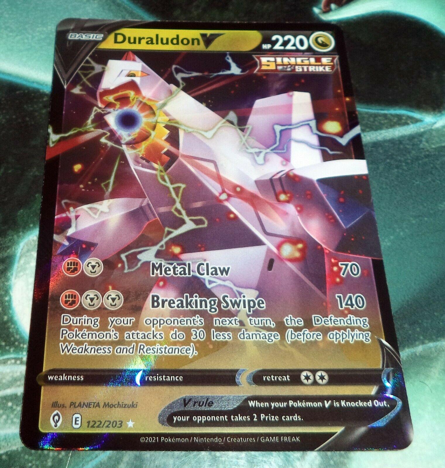 Pokemon - Duraludon V -122/203 - Ultra Rare - Evolving Skies - NM/M