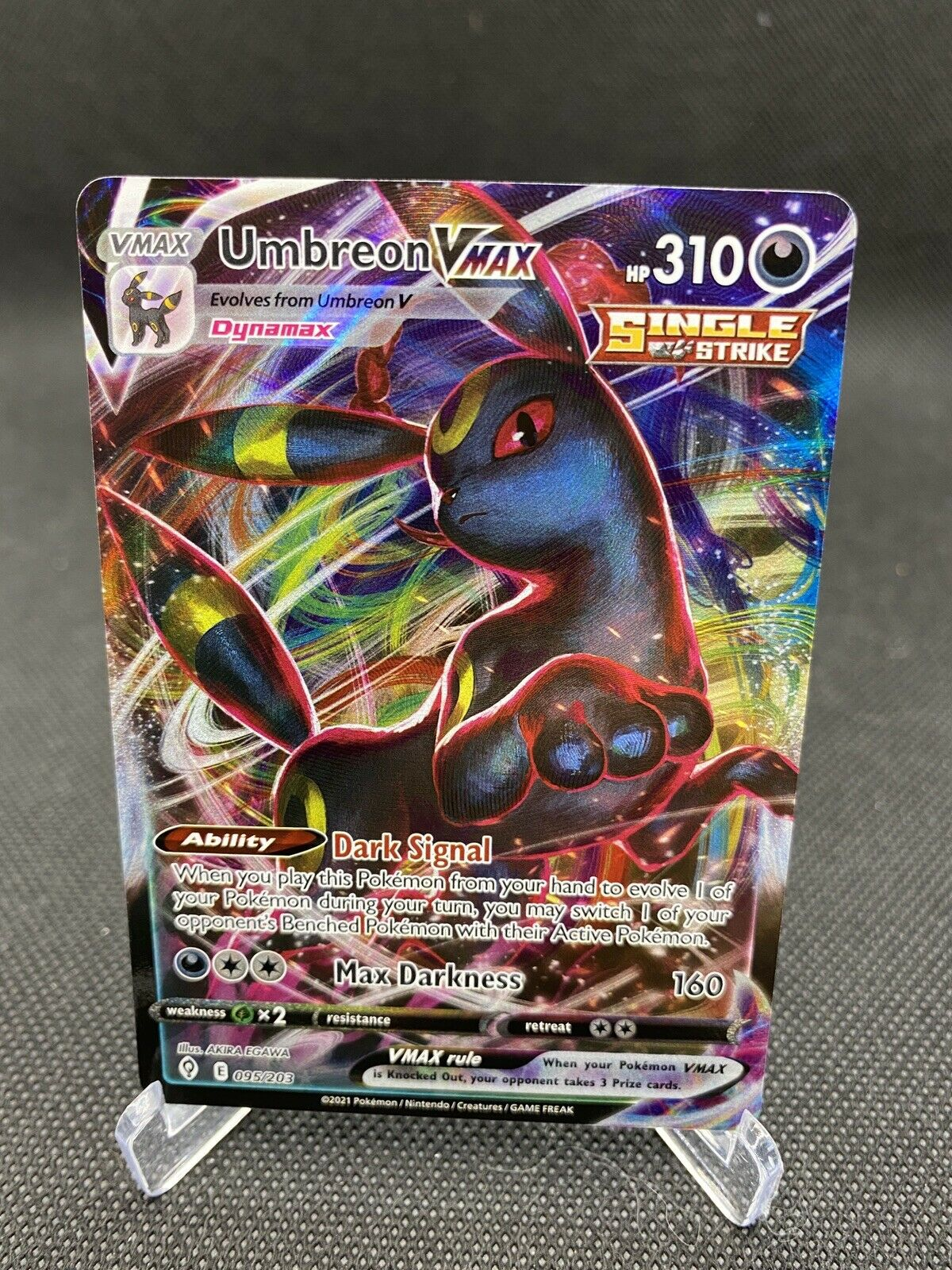 Umbreon VMAX 095/203 Pokemon TCG Evolving Skies Full Art Ultra Rare MINT