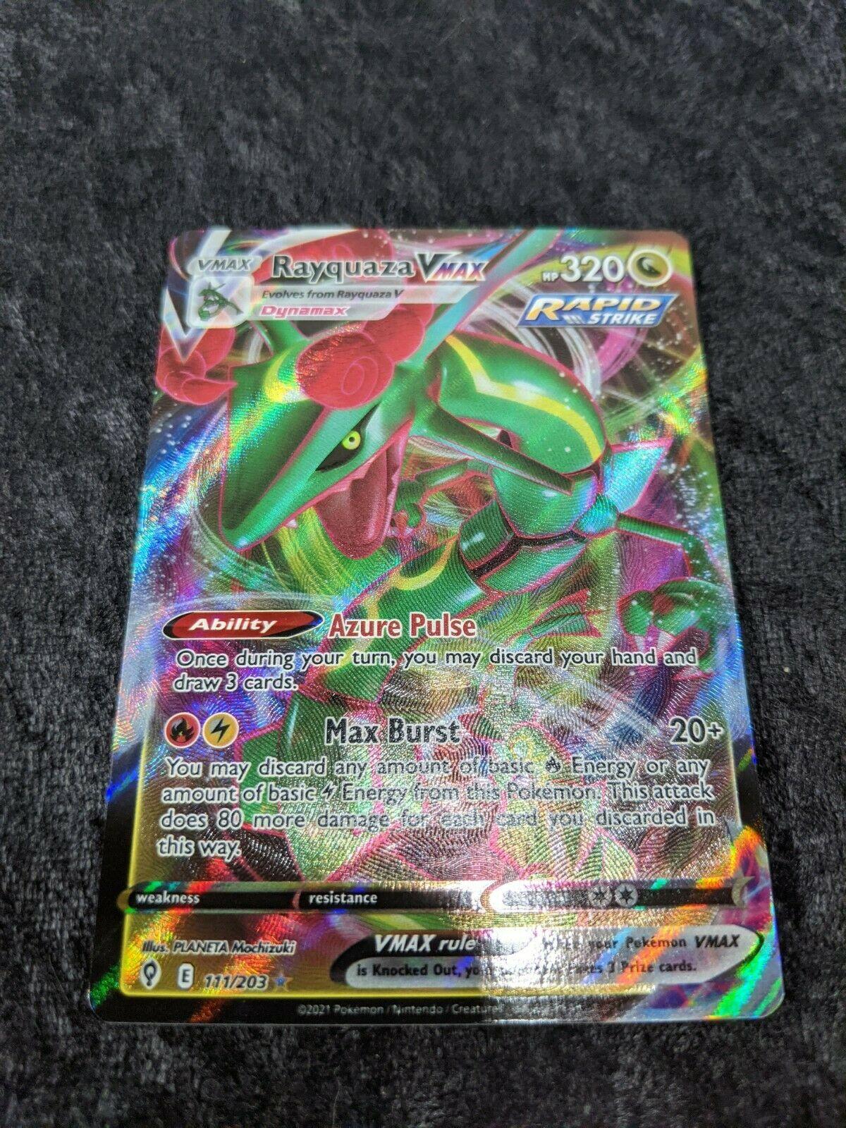 Rayquaza VMAX 111/203 Full Art NM/M Evolving Skies Pokemon Card
