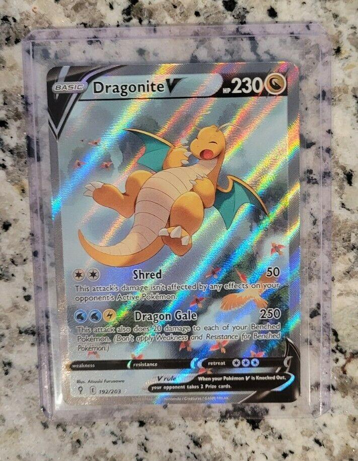 Dragonite V Alternate Art - Pokemon Evolving Skies Full Alt Art Card 192/203 🔥