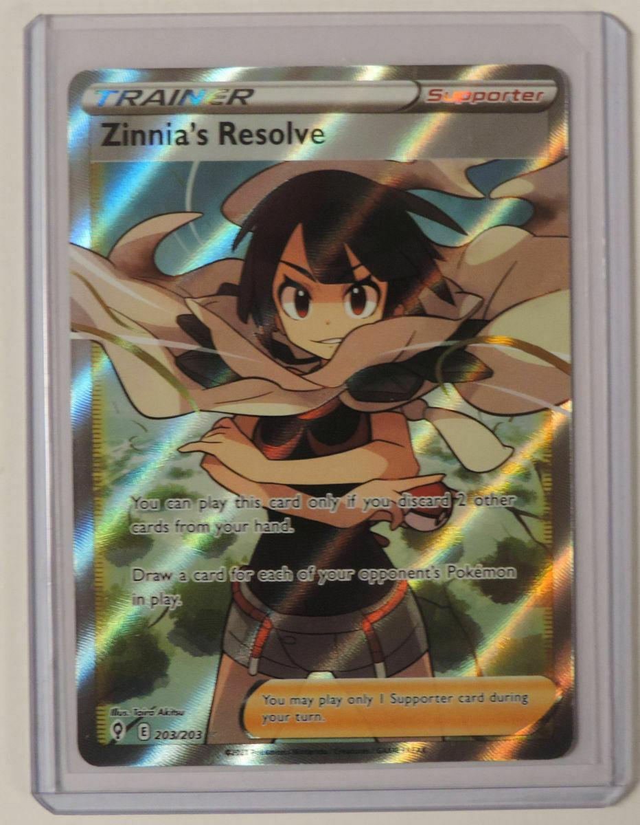 Zinnia's Resolve 2021 Pokemon Evolving Skies Full Art Trainer 203/203