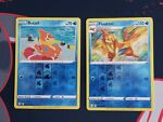 Pokemon Shining Fates 022/072 Buizel and 023/072 Floatzel Reverse Holo Near Mint