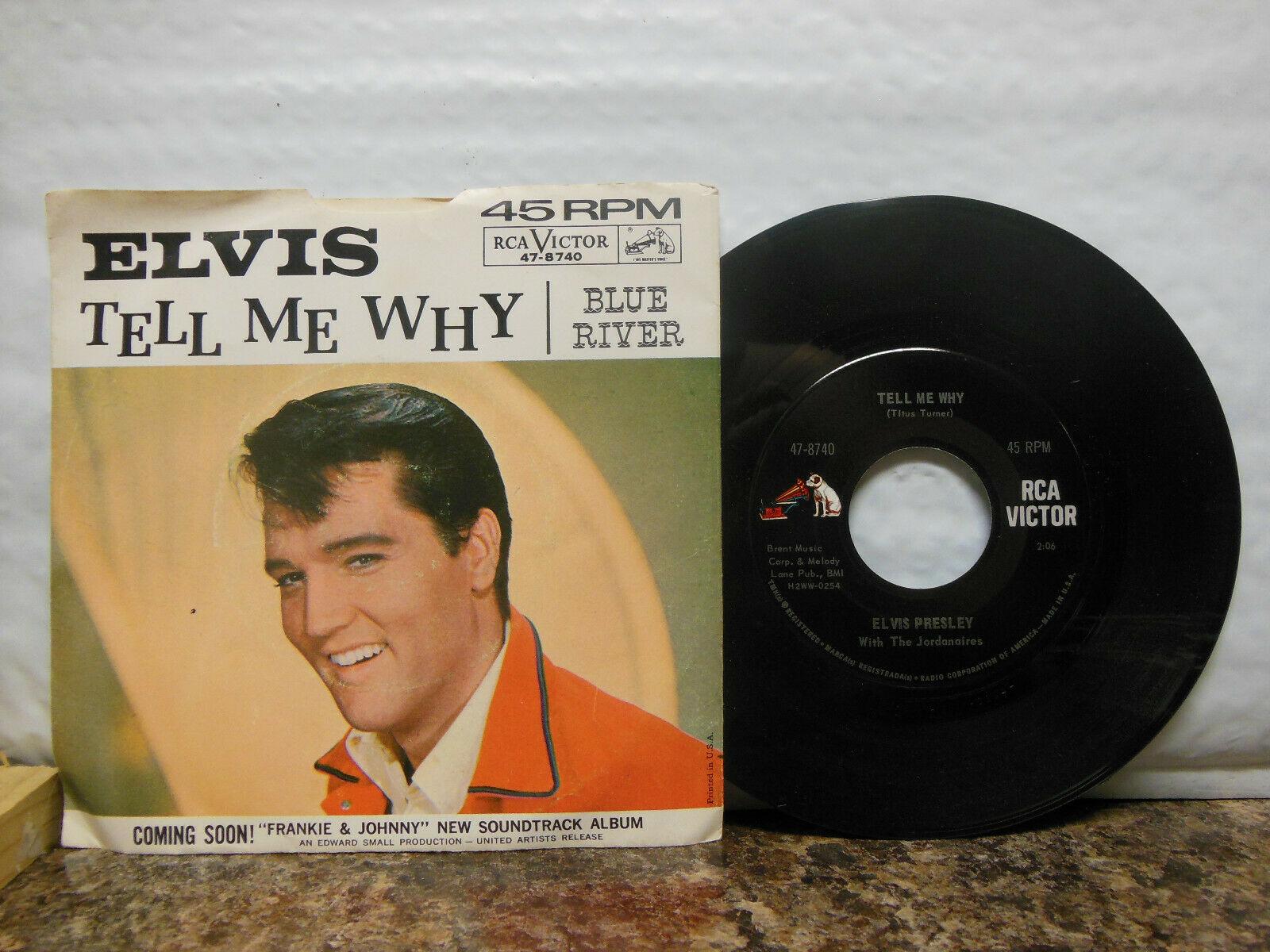 Elvis Presley - Blue River / Tell Me Why, 45 RPM VG+ (RC)