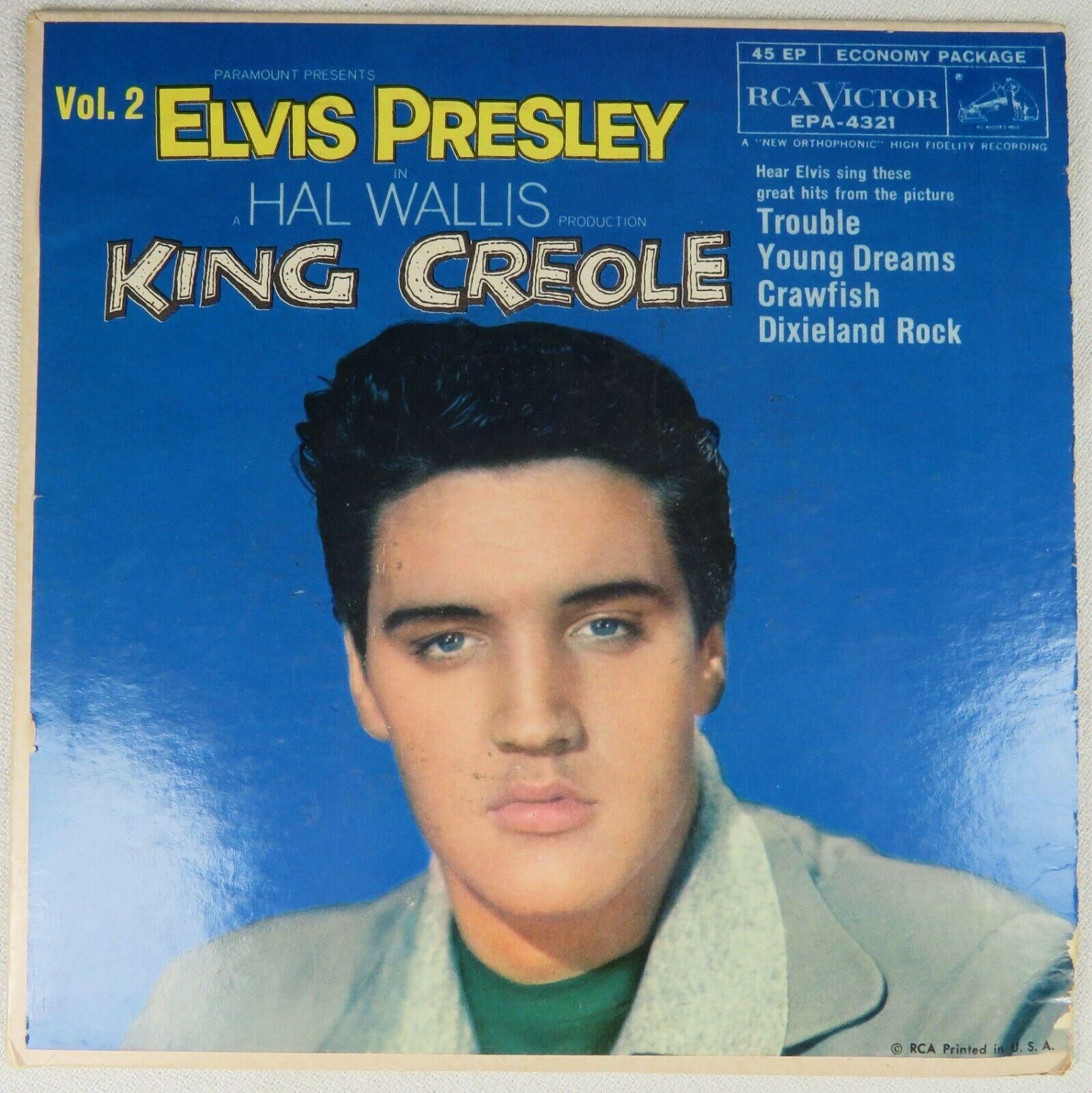 "Elvis Presley - King Creole Vol 2 - 1958 45rpm 7"" EP Pic Sleeve EPA-4321 VG++"