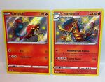 Sizzlipede SV018/SV122 + Centiskorch SV019/SV122 Holo Rare Shining Fates Pokemon