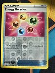Pokemon card BATTLE STYLES Reverse Holo Trainer ENERGY RECYCLER 124/163 Mint/NM
