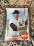 1968 Topps Mickey Mantle #280 Yankees No creases, Great Color, Soft corners-Look