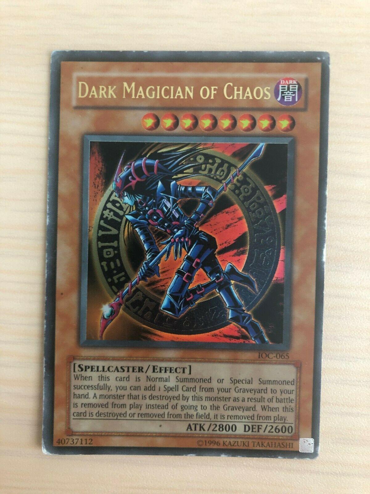 NM Yu-Gi-Oh 3x Dark Magician Of Chaos 1st Edition SR08-EN015