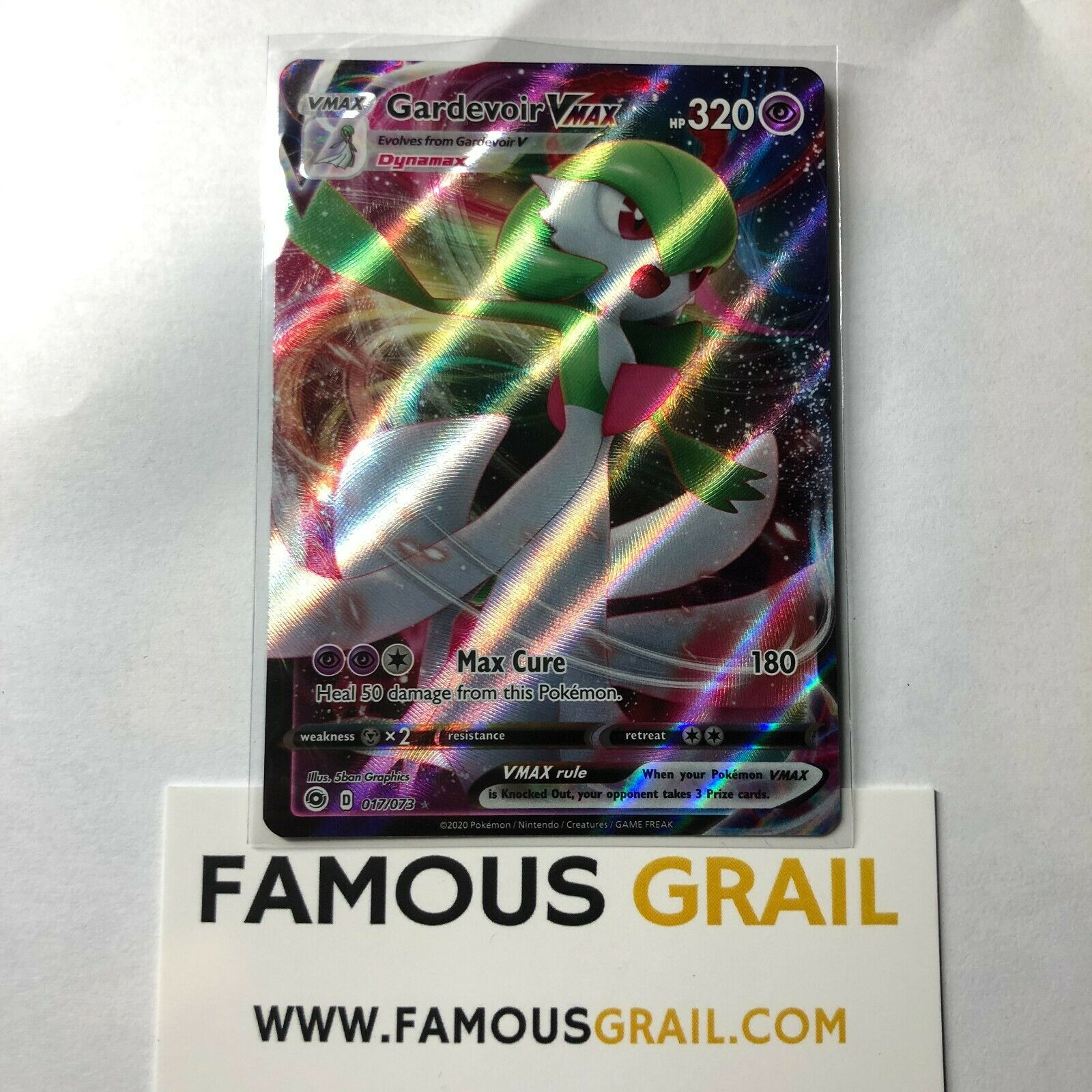 Rare Holo Card Pokemon Champion/'s Path MINT 017//073 Gardevoir VMAX