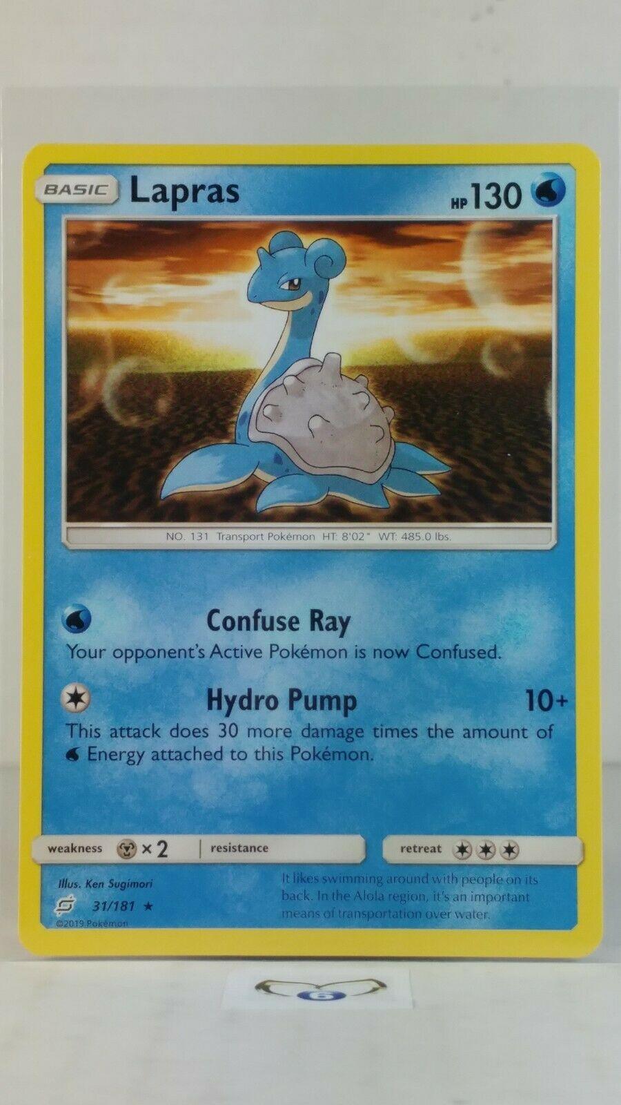 Lapras  31/181  S&M: Team Up  Rare Mint/NM  Pokemon - Image 1