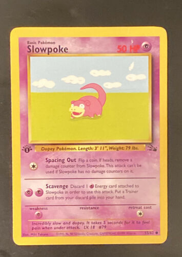 Details about  /Slowpoke 1st edition fossil 1999 NM//MINT