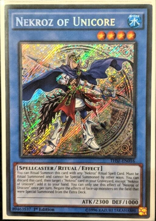 Yu-Gi-Oh Card Nekroz of Unicore DUPO-EN088 Ultra Rare 1st Edition Near Mint
