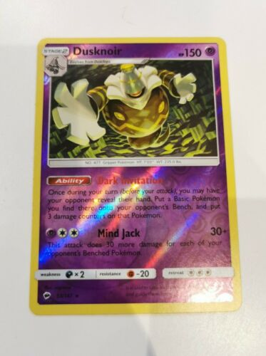 Pokemon Cards Dusknoir SM3 Burning Shadows Holo Rare 53//147