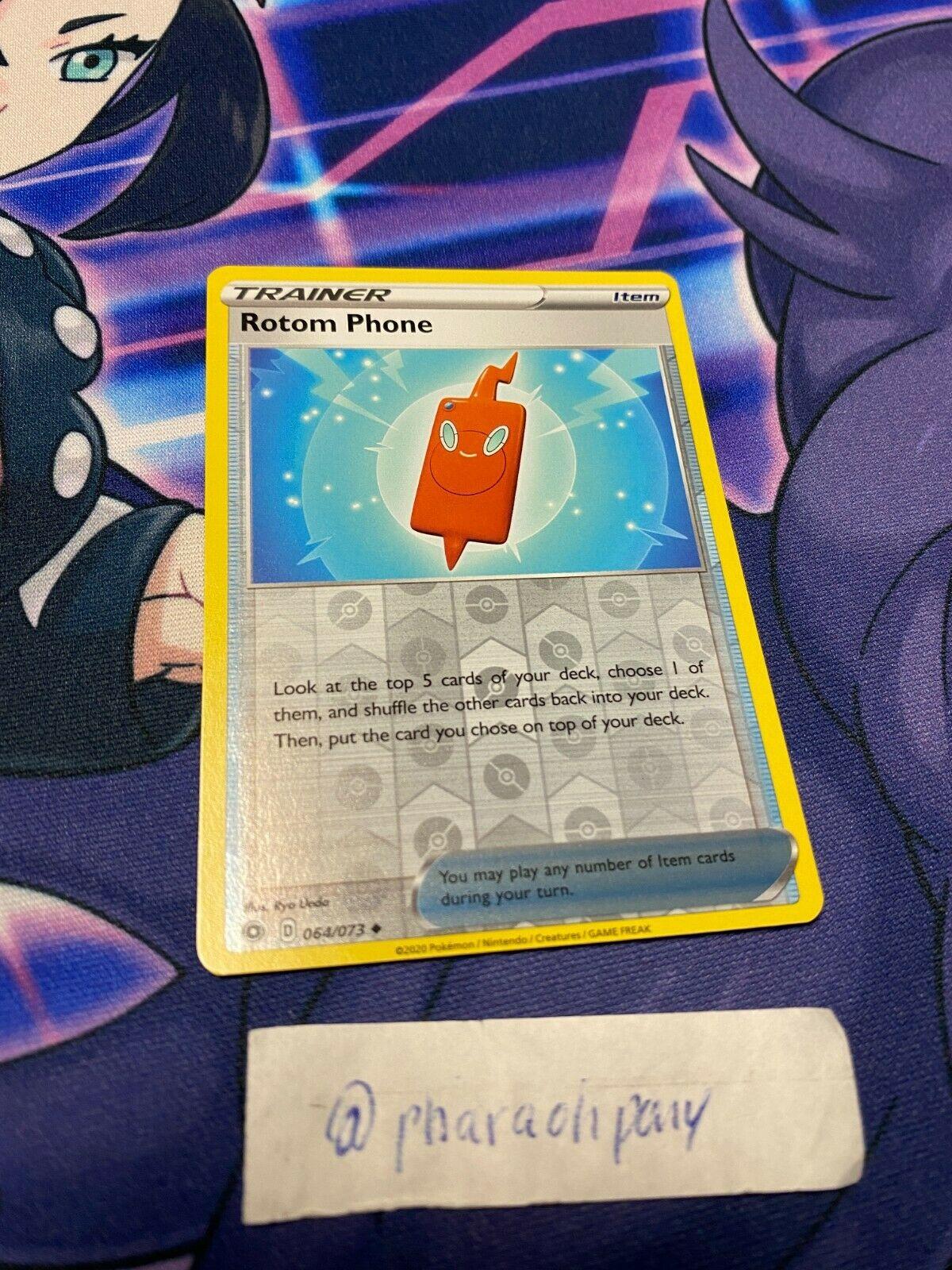 Champion/'s Path Playset NM 4 x Rotom Phone 064//073 Pokemon